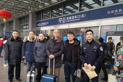 京口警方连续三年抓获3名境外逃犯