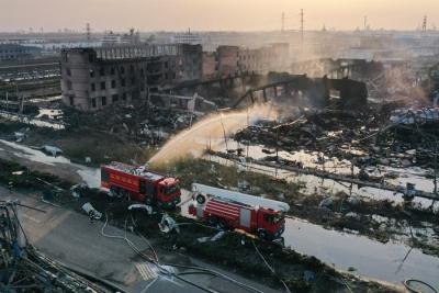 镇江市消防救援支队驰援响水指战员完成任务平安归来