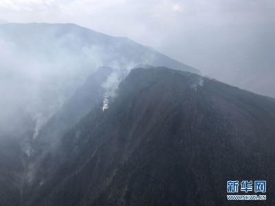 凉山州投入1900余人地空配合扑救森林火灾 越西县已无明火