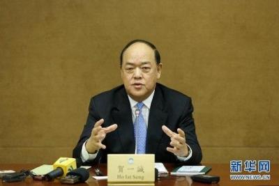 澳门立法会主席贺一诚宣布参选第五任特首