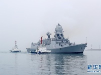 来华参加多国海军活动的外国军舰抵达青岛