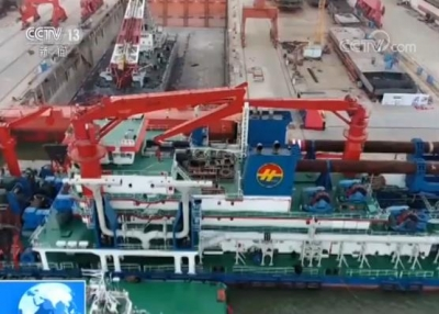 """我国自主研发制造的绞吸挖泥船""""新海旭""""号多项技术世界领先"""
