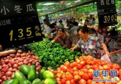猪肉鲜瓜果价格上涨 鲜菜价格季节性回落