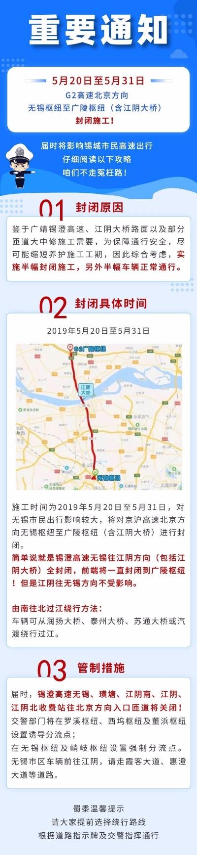 5月20日起,江阴大桥将半幅封闭施工12天!