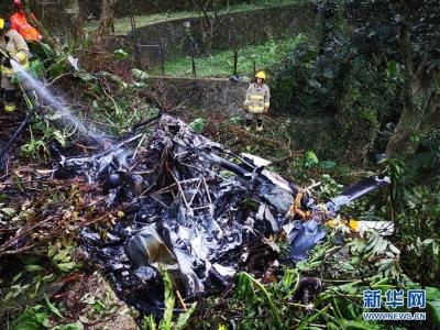 香港一架直升机坠毁 已造成一人死亡
