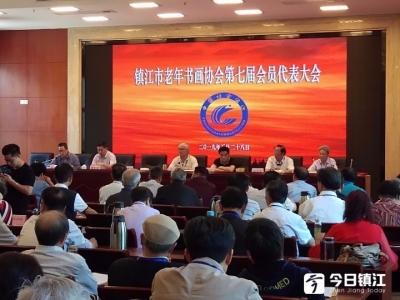镇江市老年书画协会换届,陈家驹当选会长