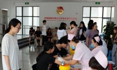 中北学院206人无偿献血  献血量达61950ml