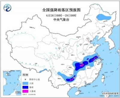 暴雨蓝色预警!江苏湖北广西等地局地有大暴雨