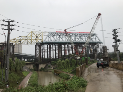1195吨的钢桁梁如何横跨80米  连镇铁路跨五凤口高架桥施工跨越三大难点