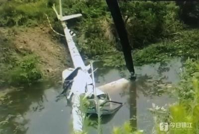 悲剧!镇江新区大路通用机场一直升机坠毁 两人遇难