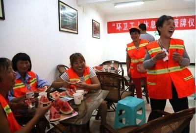 酷暑来临,又有35处休息点向环卫工人敞开大门 镇江市区环卫工人休息点增至136处