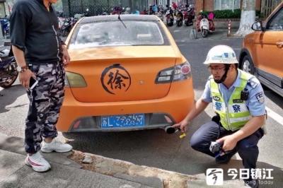 """镇江交警""""静音""""行动,一月查了20多辆""""炸街""""车"""