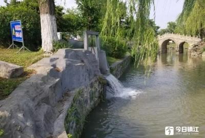 制定长期补水方案,丹阳万善公园再现小桥流水美景