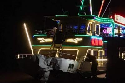 哈尔滨一轮渡客船与千吨驳船碰撞:3人骨折9人留院观察