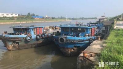 丹阳取缔两艘非法储运油船