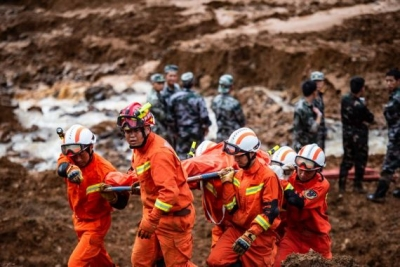 贵州水城山体滑坡搜救出遇难人员38人 失联13人