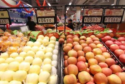 国家统计局:7月份鲜果价格同比涨39.1% 猪肉价格涨27%