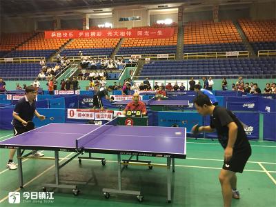 庆祝新中国成立70周年 镇江举办乒乓球俱乐部比赛