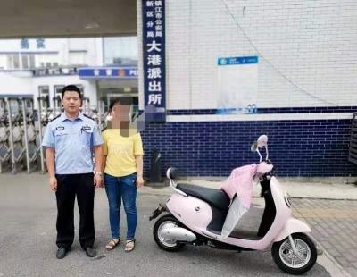 市民电动车未锁被盗,民警二十四小时内破案