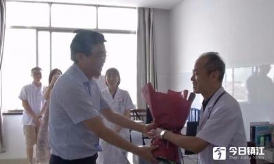 丹阳市领导慰问一线医务员工