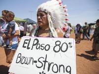 美国得州民众举行示威反对种族主义并呼吁控枪
