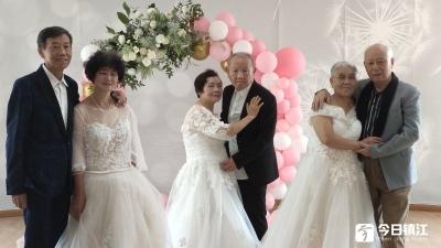七夕至,8对金婚银婚夫妻拍婚纱照 定格最美瞬间