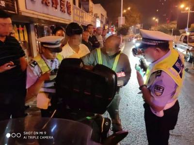 从杭州回宿迁 夜间长途骑行客竟然是酒驾