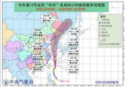 """""""玲玲""""变为超强台风级 中央气象台继续发布黄色预警"""