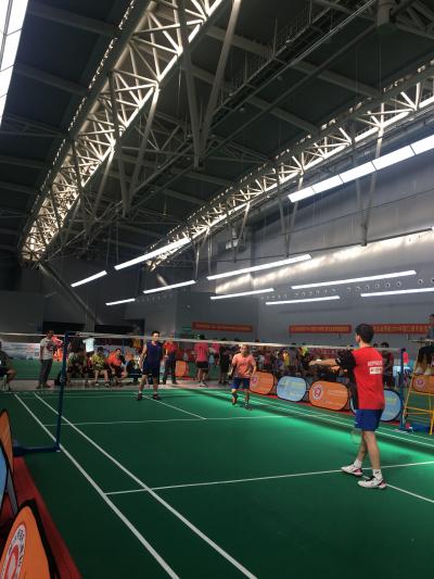 2019镇江城市业余联赛羽毛球比赛开赛