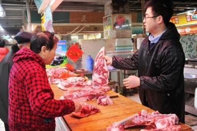 镇江菜市场实探:猪肉价格上涨,供应较稳定