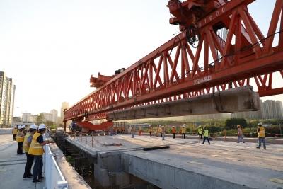 """谷阳路跨铁路老桥板梁开拆  铁路每周""""礼让""""16小时"""