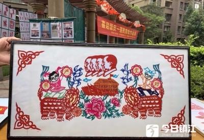 丹阳民间剪纸艺人蒋作民,三百多幅剪纸作品迎国庆
