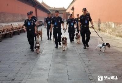 奋战34天,镇江公安民警和警犬参加国庆安保从京凯旋