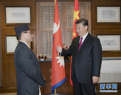 习近平会见尼泊尔联邦院主席蒂米尔西纳