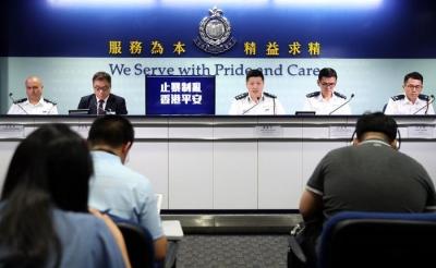 香港警方:暴徒行为向恐怖主义又走近一步