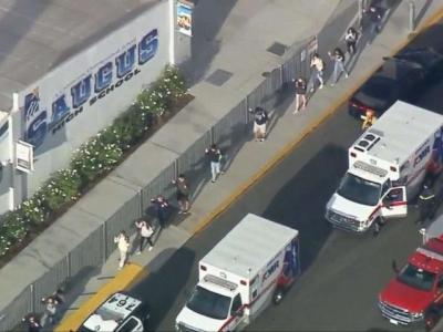 美国南加州一中学发生枪击案,造成2死3伤