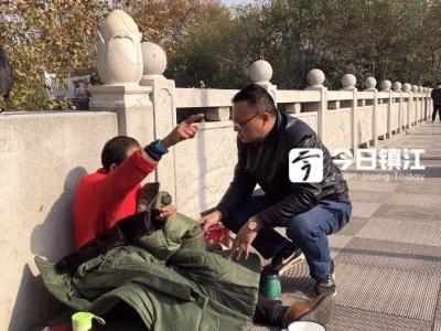 """气温""""冰点""""徘徊 镇江市救助站加大街头救助力度"""