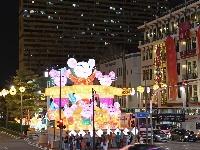 新加坡唐人街牛车水亮灯迎新年