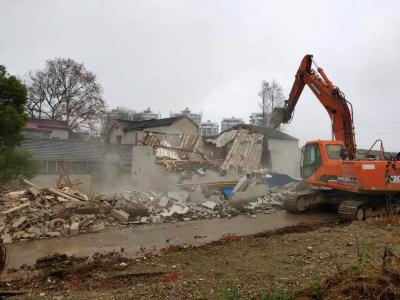 镇江高新区集中拆除11处存量违建  助力跃进河整治项目推进