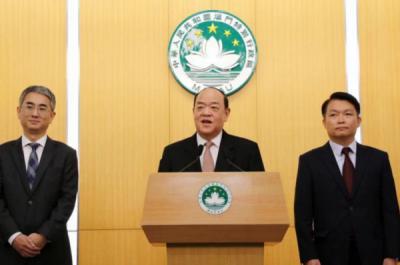澳门特区第五届政府主要官员及检察长首次集体亮相