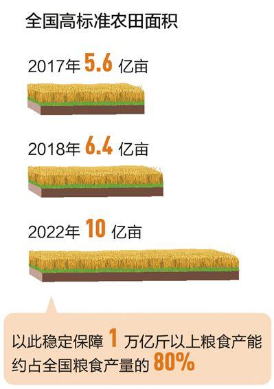 今年将建成八千万亩高标准农田(新数据 新看点①)