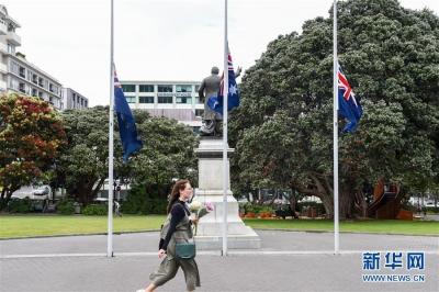 新西兰为怀特岛火山喷发遇难者默哀