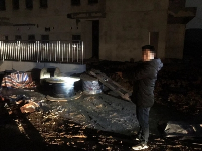 江科大新工地300米电缆线被盗  丹徒公安3天破案