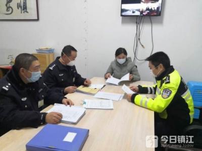 镇江新区交警联合市车管所走访运输企业 助力疫情期间复工复产