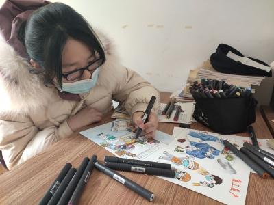 13岁学生画防疫绘本,为抗击疫情做一份努力