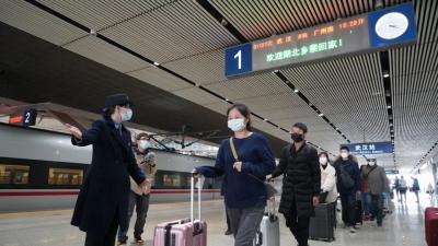 武汉铁路客运重启进行时!