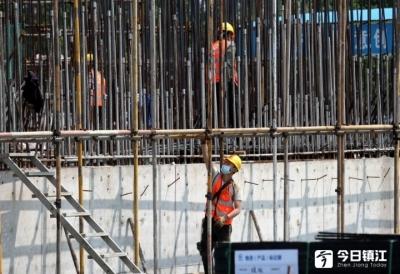 镇江市海绵最大单体项目预计今年底即可主体完工