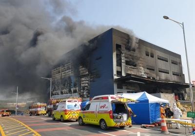 韩国利川市一物流仓库起火致36人死亡