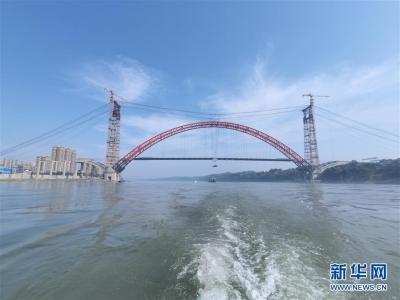 合江长江公路大桥主梁成功合龙