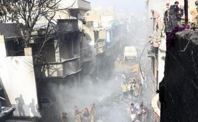 巴基斯坦失事客机97人遇难 2人幸存